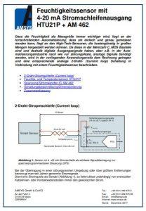 Anwendungsnotiz Feuchtigkeitssensoren